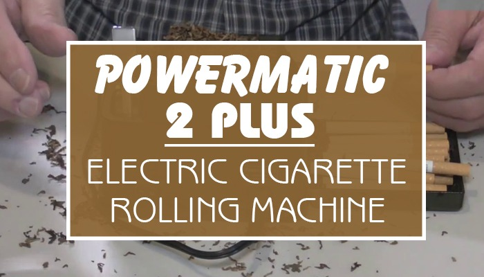 Powermatic 2 PLUS Electric Cigarette Rolling Machine